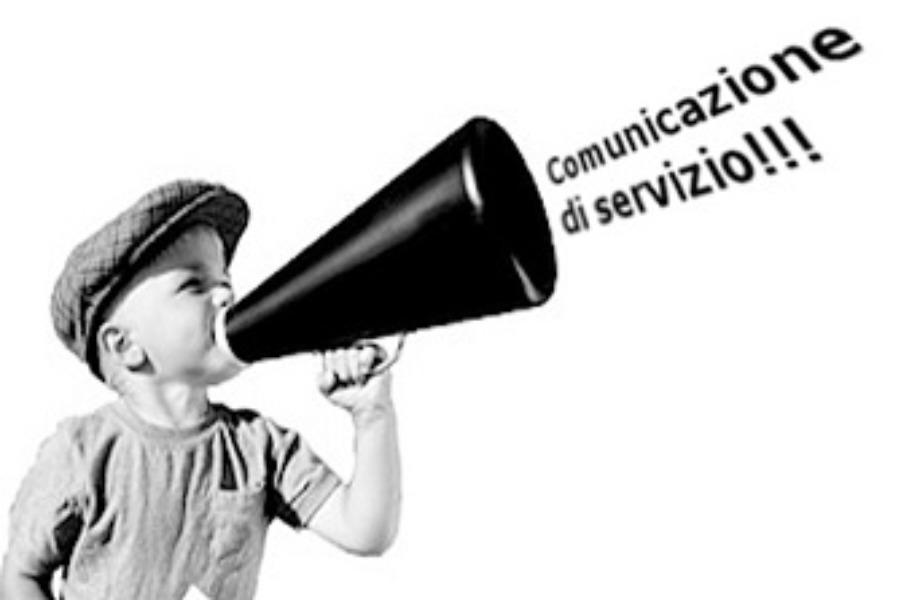Comunicazione importante di servizio